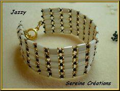 Aha! A simple Tila bracelet with small swarovski crystals. Classy.