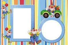 Clowns: Free Printable Invitations.