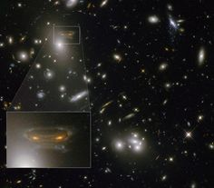 "Anyone who played the classic computer game ""Space Invaders"" may recognize the titular aliens in the form of a strange-looking distant galaxy spotted by the Hubble Space Telescope. Cosmos, Solar System Exploration, Space Exploration, Space Invaders, Carl Sagan, Nasa Goddard, Spiral Galaxy, Hubble Images, Hubble Space Telescope"