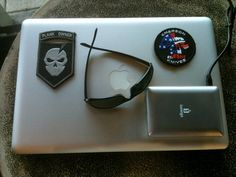 Just ordered my challenge coins! Woohoo! Here's my plank owner patch, rocking out the Mac PowerBook Pro... - Frazier D.
