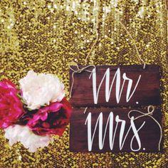 Mr. & Mrs. Wedding Day Chair signs - $30 #Mr&Mrs #wedding