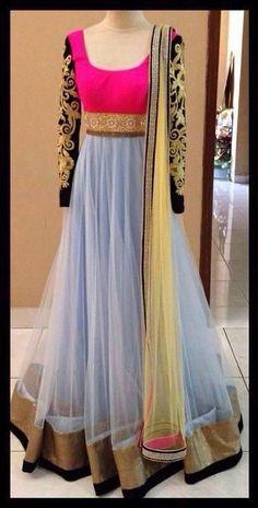 Harman Anarkali Dress, Anarkali Tops, Black Anarkali, Gown Dress, Anarkali Suits, Indian Attire, Indian Suits, Indian Wear, Indian Bridal