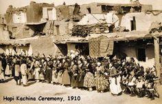 1910 Hopi Kachina ceremony. Arizona .