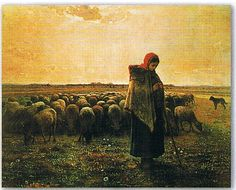 ジャン フランソワ ミレー 羊飼いの少女