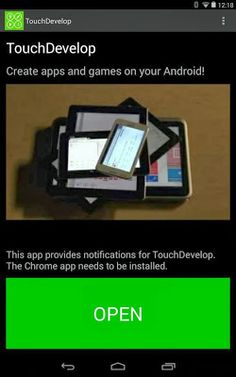 Microsoft launches TouchDevelop app on Android Tablets.