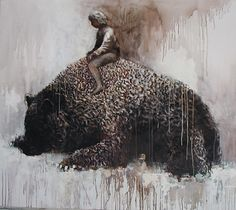 Samuli Heimonen ''My paintings there is often something people are greater. It may be an object, animal, or structure. In most cases, t. Different Kinds Of Art, Group Art, Inspirational Artwork, Animal Totems, My Spirit Animal, Art Studies, French Art, Surreal Art, Art Blog