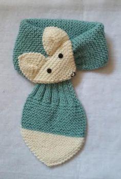 Adjustable kids fox scarf hand knit scarf / neck by quiltncrochet Diy Crafts Knitting, Loom Knitting, Knitting Projects, Crochet Projects, Hand Knitting, Fox Scarf, Hand Knit Scarf, Baby Knitting Patterns, Crochet Patterns