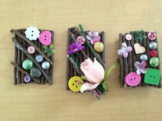 "Homemade fairy doors from Early Discoveries Inc. Childcare ("",)"