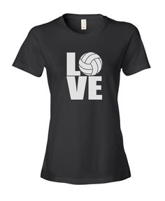 Summer Style Fashion Swag T Shirts Women'S Short New Style Crew Neck Love Volleyballer Tee Shirt