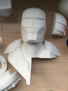 3ders.org - Polymaker demonstrates professional post processing techniques with 3D printed Iron Man bust | 3D Printer News & 3D Printing News