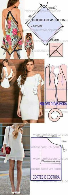 Dress Dress Sewing, Sewing Clothes, Diy Dress, Diy Clothes, Scarf Dress, Clothing Patterns, Dress Patterns, Sewing Patterns, Sewing Hacks