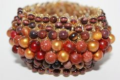 Mixed bead bangle