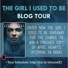#TheGirlIUsedToBe by #AprilHenry blog tour starts on May 3rd, 2016! Repin this photo and follow us (@FFBCTours) on Pinterest to get extra entries: http://www.rafflecopter.com/rafl/display/d9681b86182/? ***Remember to enter the repin link in the rafflecopter!***