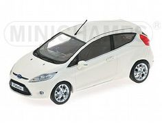 The Ford Fiesta 2008 White is a diecast model in 1/43 scale and is part of the Minichamps Road Car Collection.