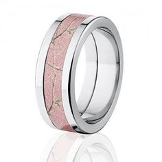 RealTree Pink Camouflage Titanium Rings, Camo Bands #camorings #camogifts #camoweddingbands #camoweddingrings #appink #pinkcamo #pinkcamorings #ilovepink