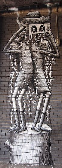 Phlegm - street art/graffiti