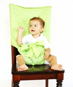 Take a look at this Green Polka Dot Tie Chair by Tie Chair on #zulily today!