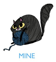 Kate's work is perfect for embroidery - line intensive ans super cute.  Hark! A Vagrant - cats