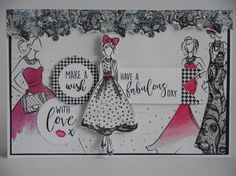 Card made by Phillipa Lewis using Craftwork Cards Fabulous Fashionista Collection. Craft Projects, Projects To Try, Craft Ideas, Craftwork Cards, General Crafts, Craft Work, Birthday Cards, Birthday Ideas, Homemade Cards