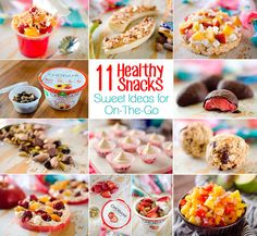 11 Healthy Snacks - Sweet Ideas for On-The-Go - Fast and easy snacks that are loaded with protein and are great to grab & go!