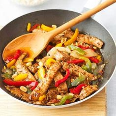 Jamaican Pork Stir-Fry From Better Homes and Gardens, ideas and improvement projects for your home and garden plus recipes and entertaining ideas.