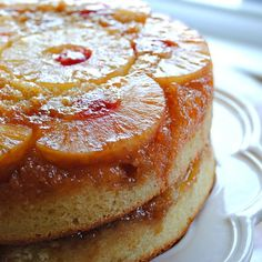 Turning pineapple upside down cake . . . upside down  - Oh my goodness!  This is two layers of pineapple upside down. Twice the deliciousness!