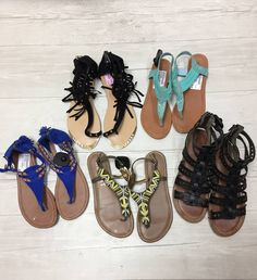 Summer is right around the corner and Plato's Closet Schaumburg has all of the cute sandals to rock any outfit!