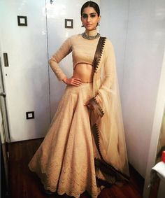 sonam-kapoor in Shantanu and Nikhil lengha
