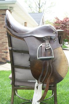 Vintage Leather English Saddle Brown Equestrian Home by EJCShop, $60.00