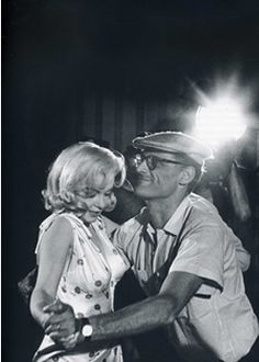 Ça twiste! Marilyn and Arthur Miller attempting the twist.