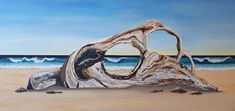 Auftragsarbeit Beach, Painting, Art, Artworks, Art Background, Seaside, Painting Art, Paintings, Kunst