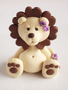 Polymer clay miniature lion reserve for Cherri by natbears on Etsy, $15.00