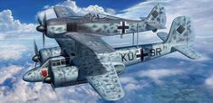 Focke Wulf Mistel Project [Ta 154A-1 & Fw 190A-8] (T.Hoshino, Hasegawa box art)