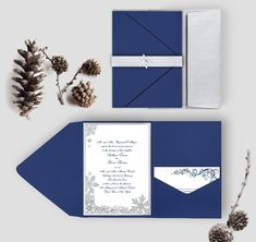 Winter Wonderland Snowflake Wedding by silentlyscreaming on Etsy #winter #snowflakes #wedding #invitation #set