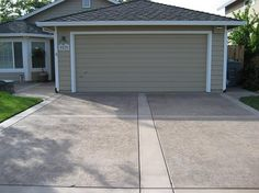 Like Concrete and Paver driveway or concrete with stamped edge ...