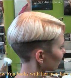 The Perfect Cut Hair Salon in Topsfield Massachusetts. Super Short Hair, Short Hair Cuts, Short Hair Styles, Pompadour Hairstyle, Undercut Hairstyles, Hairstyle Short, Shaved Undercut, Shaved Hair, Hair Dye Colors