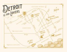 detroit map (graphic design by alisa bobzien, art direction and planning by viva la diva events)