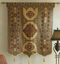 "Moroccan Style Fine Art Tassel Tapestry Wall Hanging Cotton Woven 54"" x 69"""