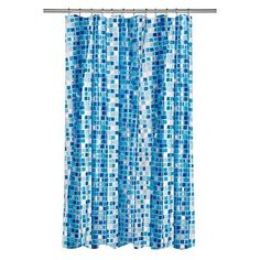 Croydex AE543424YW Mosaic Shower Curtain Blue by Croydex *** Check out the image by visiting the link.
