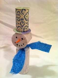 Snowman Wine Cork Ornament