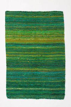 grass striped rug - anthropologie