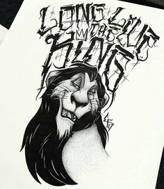 the lion king family tattoo idea scar long life the king tats i - scar Film Disney, Arte Disney, Disney Art, Lion King Drawings, Lion King Art, Scar Rey Leon, Kiara Lion King, Brust Tattoo, Scar Tattoo