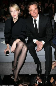 Cate Blanchett Photos - Cate Blanchett and Colin Firth attending Tom Ford show at London Fashion Week in London. - LFW: Front Row at Tom Ford Nylons, In Pantyhose, Colin Firth, Hot Actors, Actors & Actresses, Black Toms, Sexy Legs, Tom Ford, Little Girls