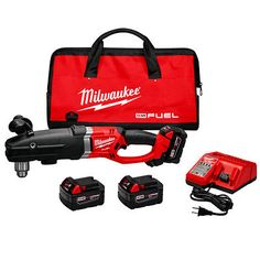 Milwaukee 2709-22 M18 FUEL 18-Volt 1/2-Inch SUPER HAWG Right Angle Drill Kit