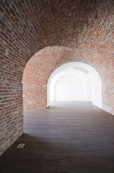 Brick vaults of the Theresia Bastion in Romania . Beautiful. Photo by Stefan Tuchila.