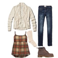 Tween fashion Cream plaid