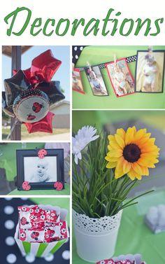 #ladybugbirthday Decorations, ladybug birthday  Www.rpsdesigns.blogspot.com