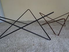 Items Similar To Mid Century Modern Iron Coffee Table Base Raw Steel On Etsy
