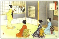 Japanese tea ceremony print