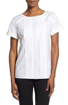 Nordstrom Collection Short Sleeve Pintuck Pleat Top available at #Nordstrom
